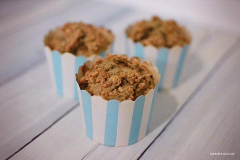 Rezept: Bananen-Nuss Muffins für Hunde
