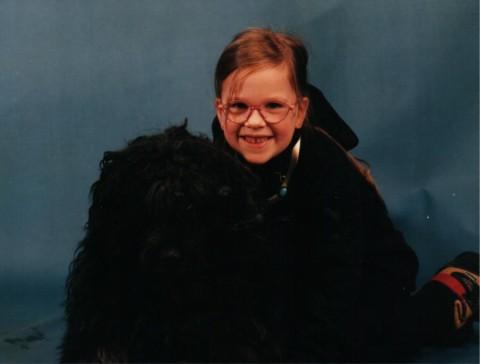 Kleine Bina – großer Hund.