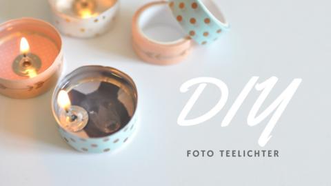 DIY Foto Teelichter