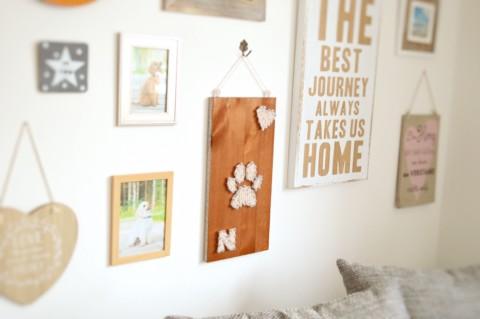 Fadenbild – Hundedeko Selbermachen