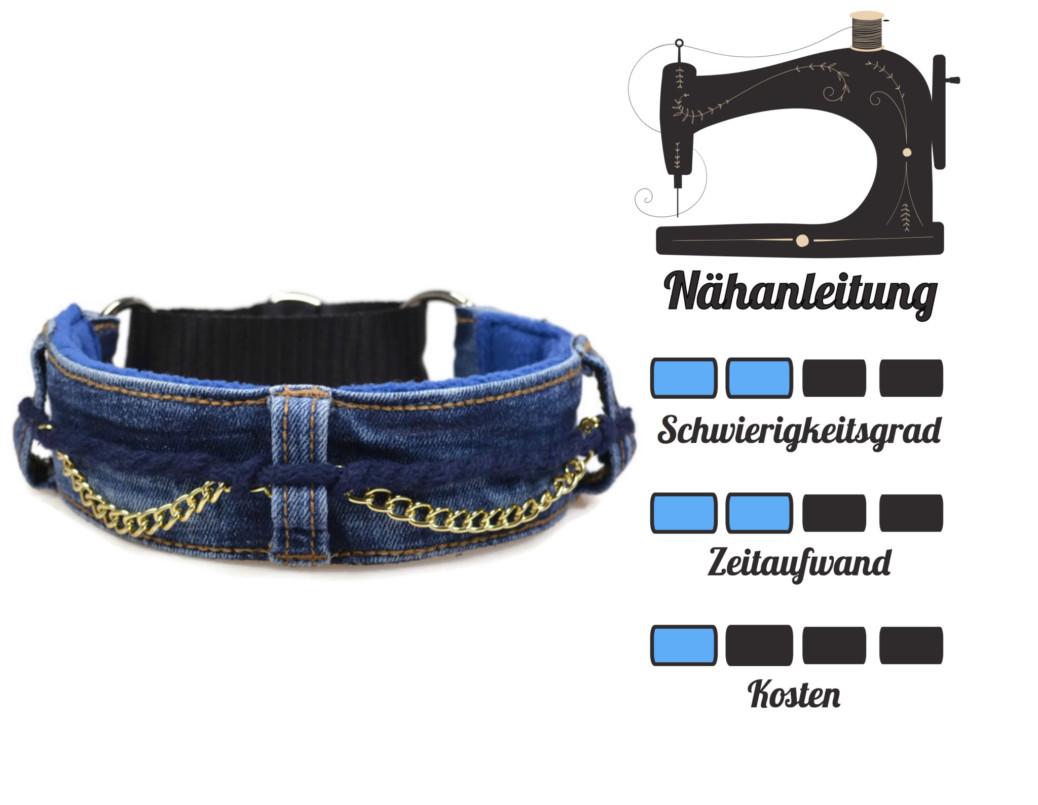 DIY für Hunde - Jeanshalsband Nähanleitung