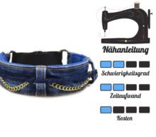 Jeansupcycling: Hundehalsband mit Martingal