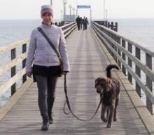 Laufsteg Timmendorfer Strand und mal wieder: Bobby und das Meer