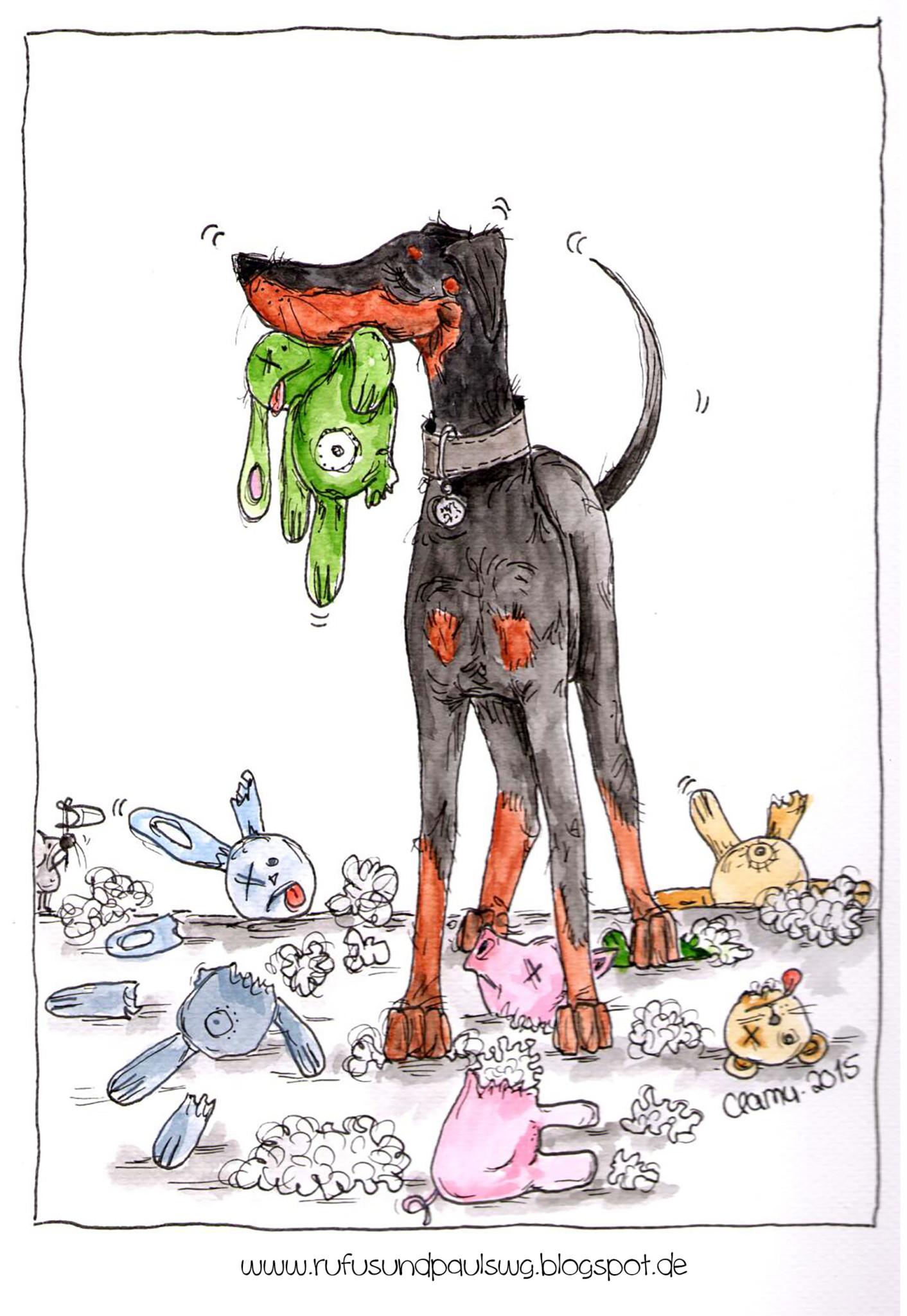 Illustrationen Hunde lustig