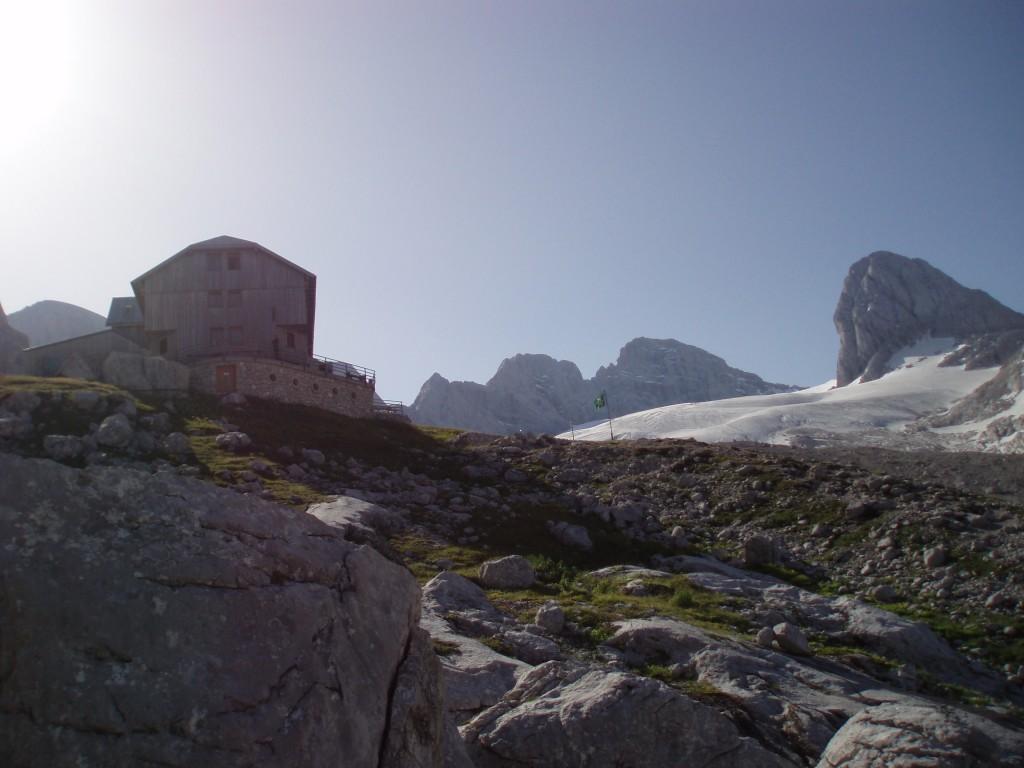 Adamekhütte am Morgen