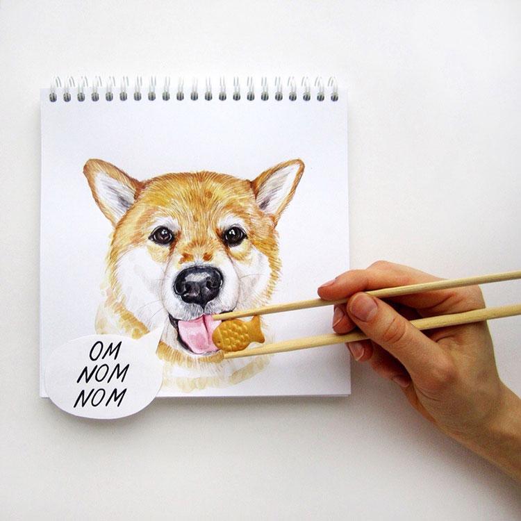 Illustrationen Hunde