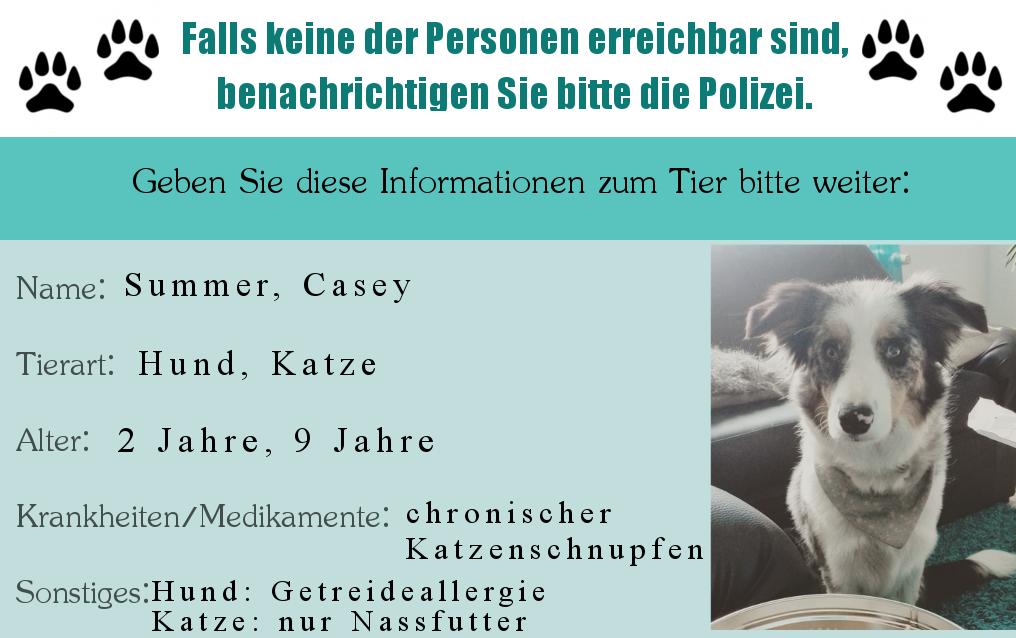 Notfallkarte Haustiere