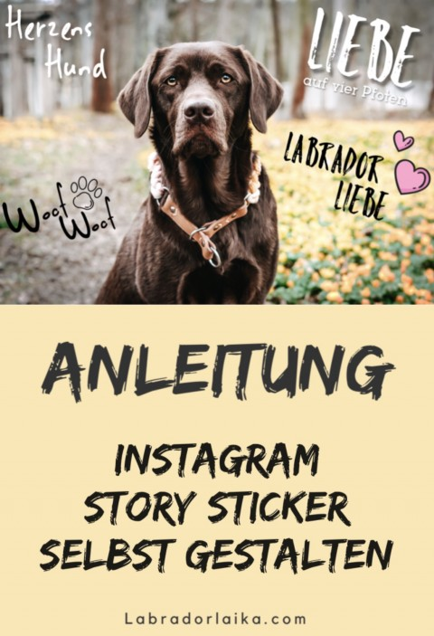 Instagram Story Sticker selbst erstellen