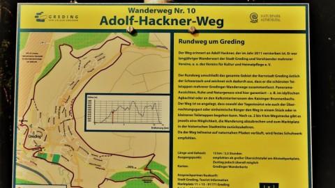 "Auf dem ""Adolf-Hackner-Weg"" in Greding – Wandern im Altmühltal"