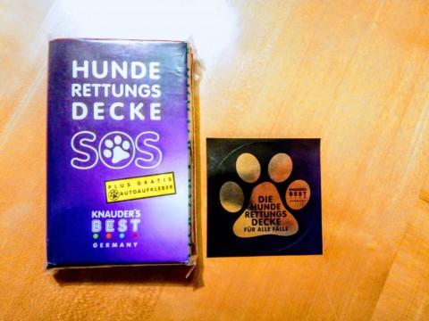 """Die Hunde-Rettungsdecke von KNAUDER'S BEST – unser """"vorläufiger"""" Erfahrungsbericht"""