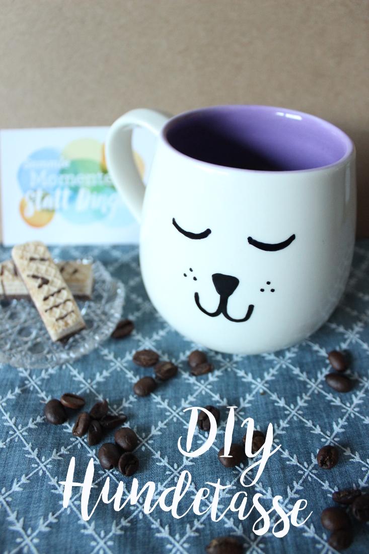 DIY Hundetasse selbermachen Hundemotiv Tasse aus Keramik