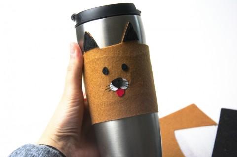 DIY  – Becherwärmer für Hundefans mit PDF Vorlage