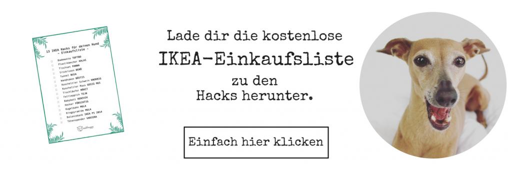 Einkaufsliste IKEA Hunde Hacks
