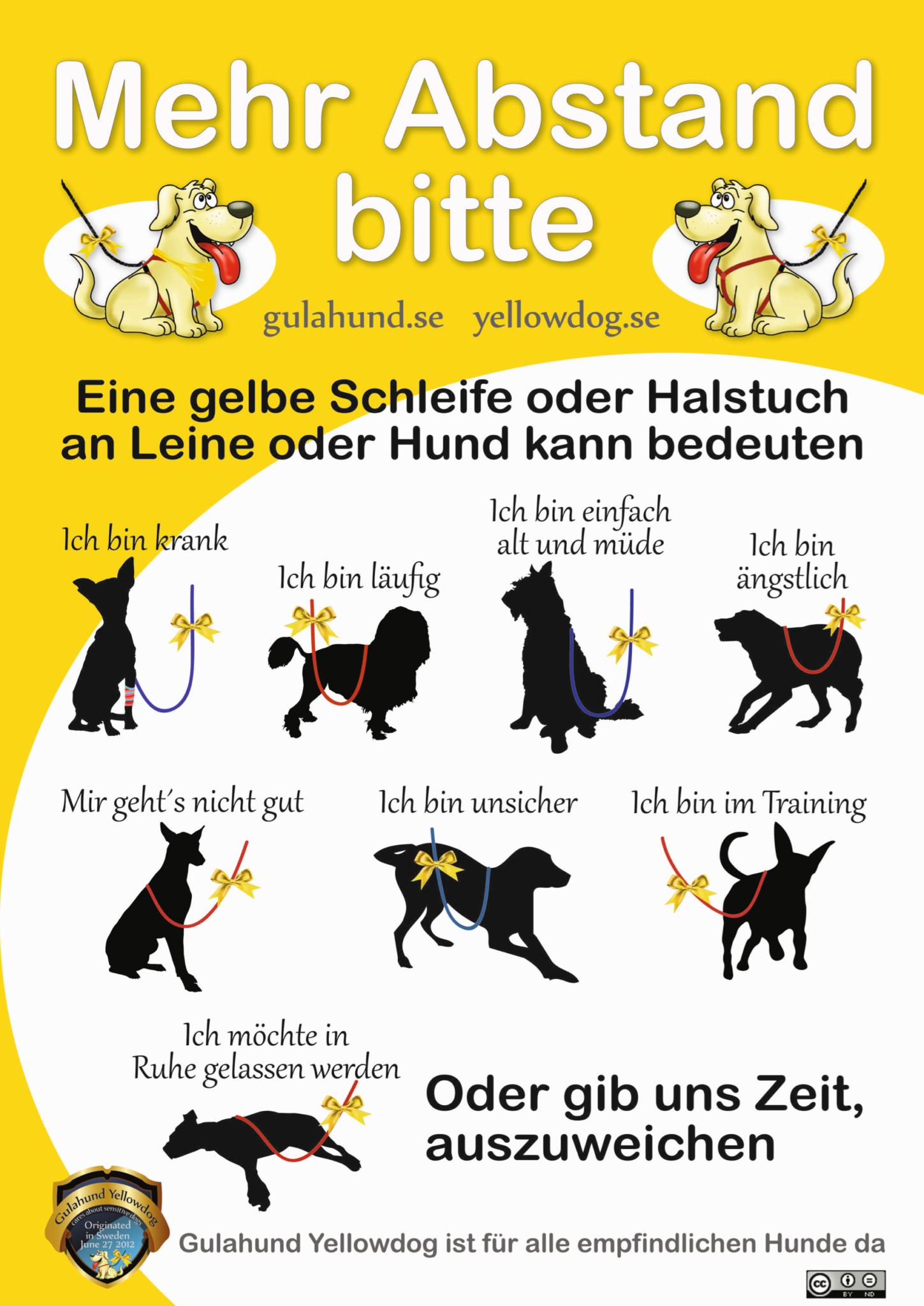 Gelbe Schleife Gulahund