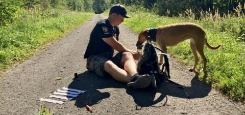 Geocaching & Mountainbiking mit Hund