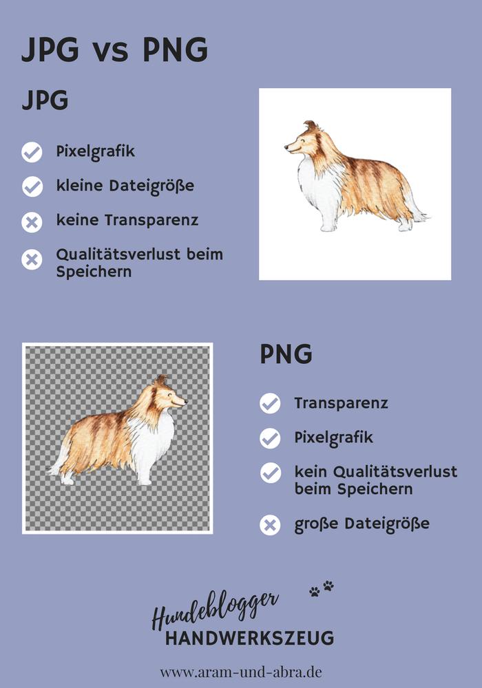 Hundeblogger Handwerkszeug JPG vs PNG Dateiformate_Tutorials_Hundeblog_Aram und Abra