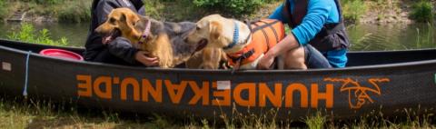 Whatever floats your boat oder unterwegs mit dem Hundekanu