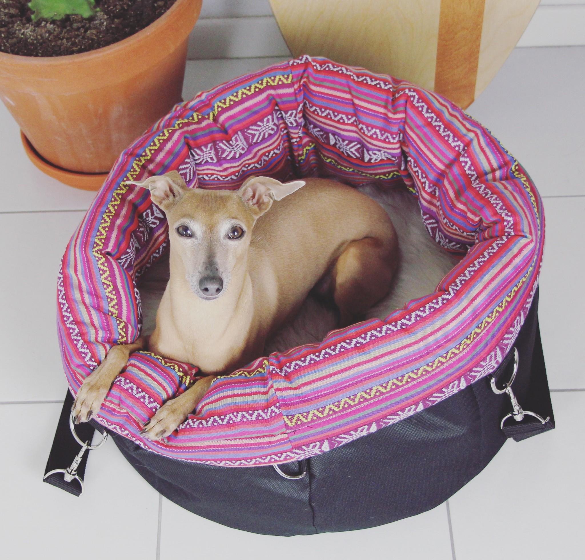 Hundetasche kuschelig praktisch Isarhund Tasche für Hunde