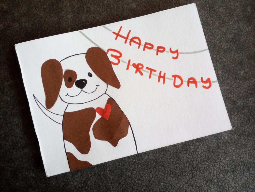 DIY Geburtstagskarte für Hundefreunde