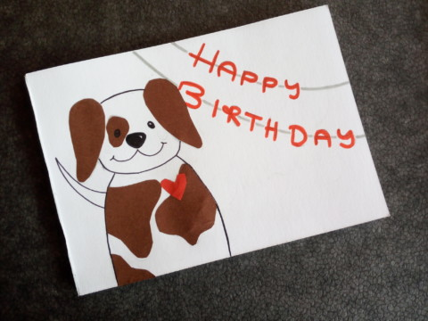 DIY – Geburtstagspostkarte für Hundefreunde