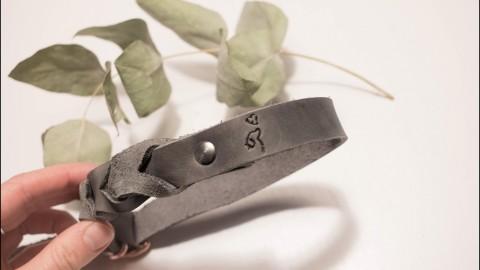 Bio Hunde Lederleine und Halsband aus rhabarberleder