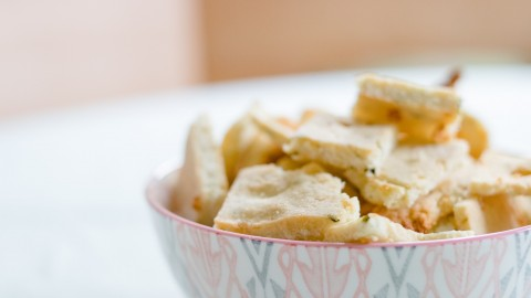 Zucchini-Feta-Cracker