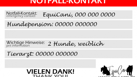 Auf alle Fälle vorbereitet dank Notfallkarte