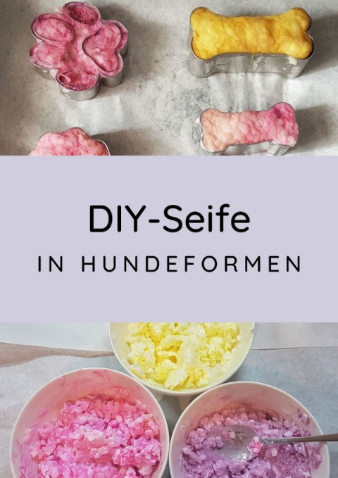 DIY-Seife in Hundeformen