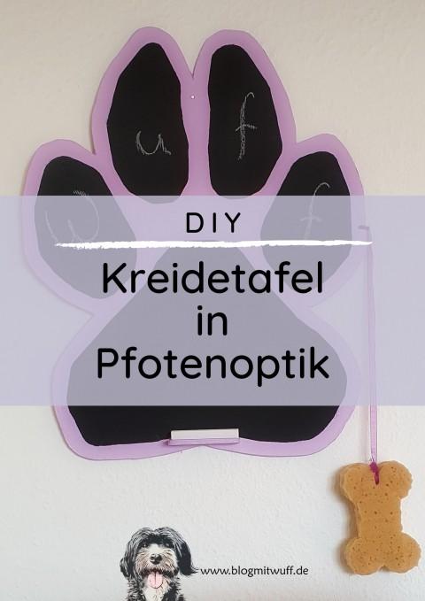DIY Kreidetafel in Pfotenoptik