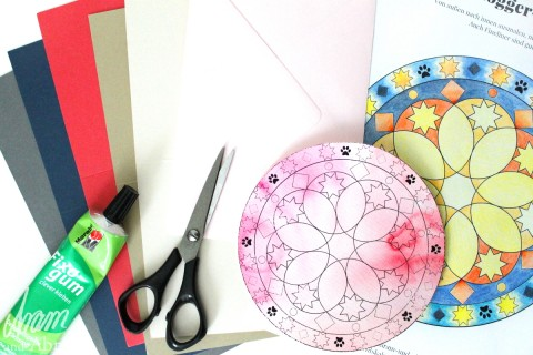 Weihnachtliches Mandala + DIY [ kostenlose Vorlage zum Ausdrucken ]