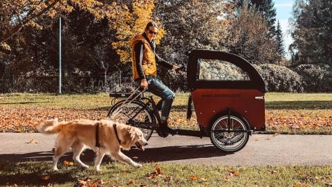 Babboe E-Lastenrad Upgrates: Regendach, Windschutz & Kindersitz