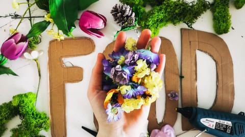 DIY: Floral Letters als Deko für den Futterplatz