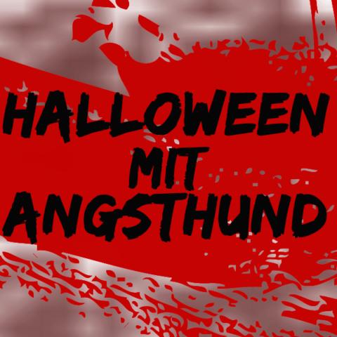 Halloween mit einem Angsthund