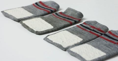 Anti Rutsch Socken für den Hund selber machen DIY