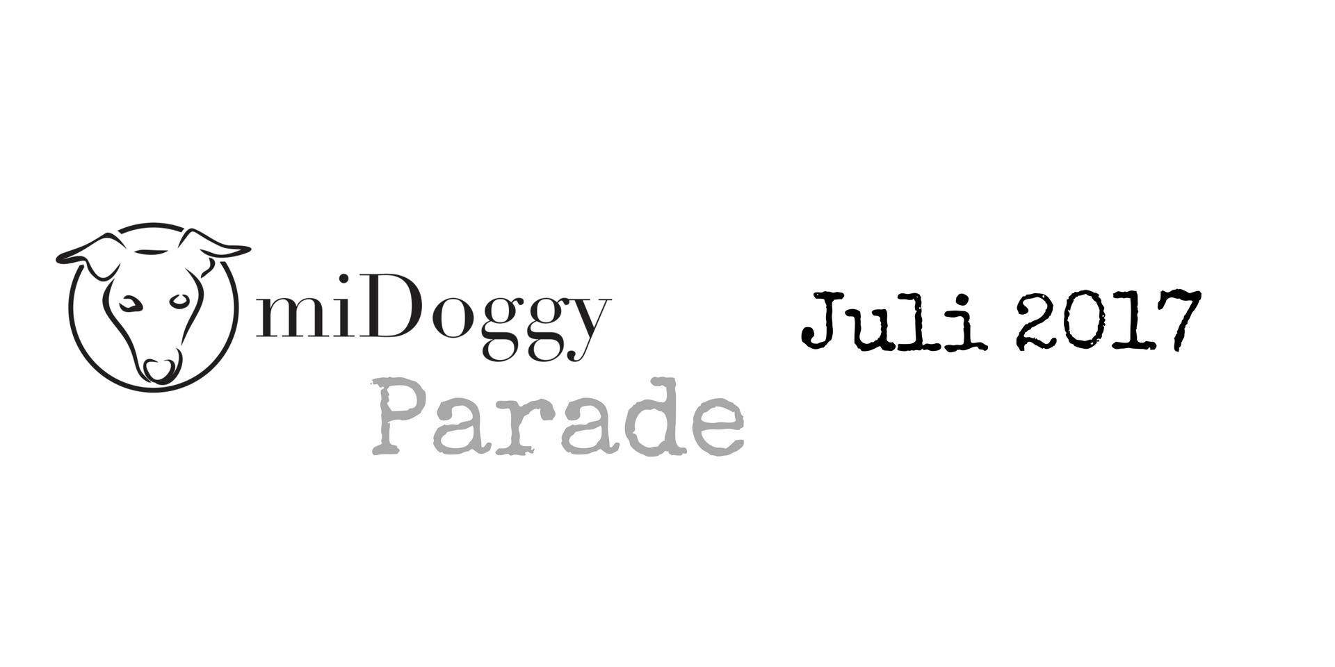 miDoggy Parade Blogparade Hundeblogger Juli 2017