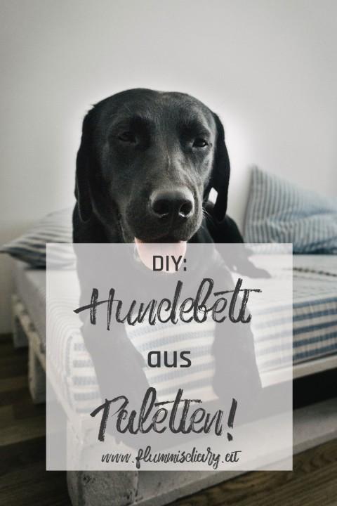Hundebett aus Paletten selbst gemacht