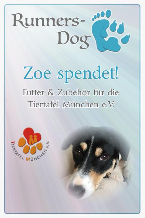 Zoe spendet an die Tiertafel München e.V.